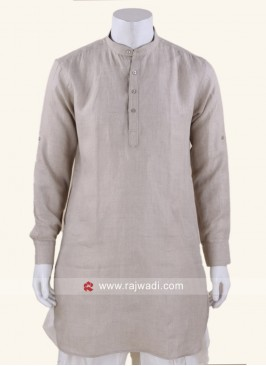Graceful Linen fabric Kurta