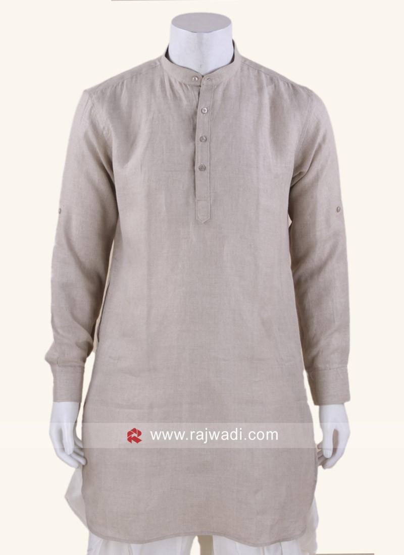 Graceful Linen fabric Kurta