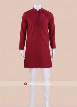 Graceful Maroon Kurta Pajama