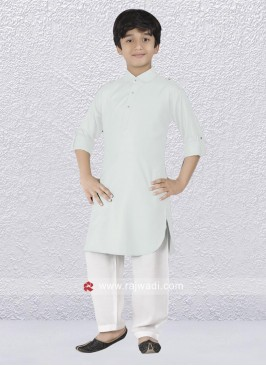 Graceful Off White Pathani Suit