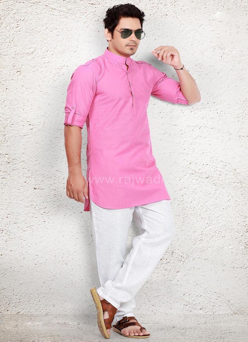 Graceful Party wear Linen Pathani Suit