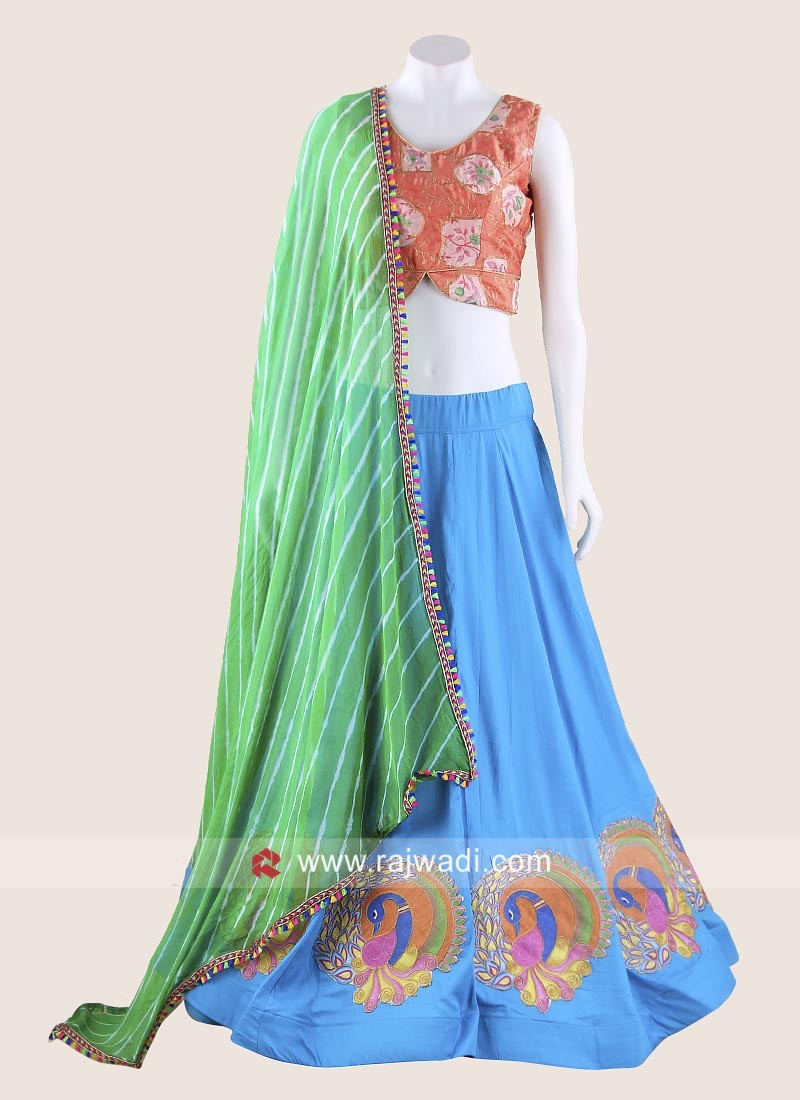 Graceful Peacock Design Chaniya Choli
