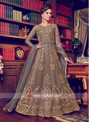 Net Heavy Embroidery Anarkali Suit