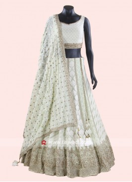Wedding Designer Lehenga Choli in Pista Green