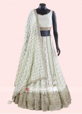 Wedding Designer Lehenga Choli in Pista Green