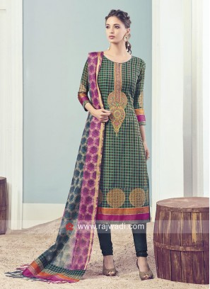 Green Checks Salwar Kameez