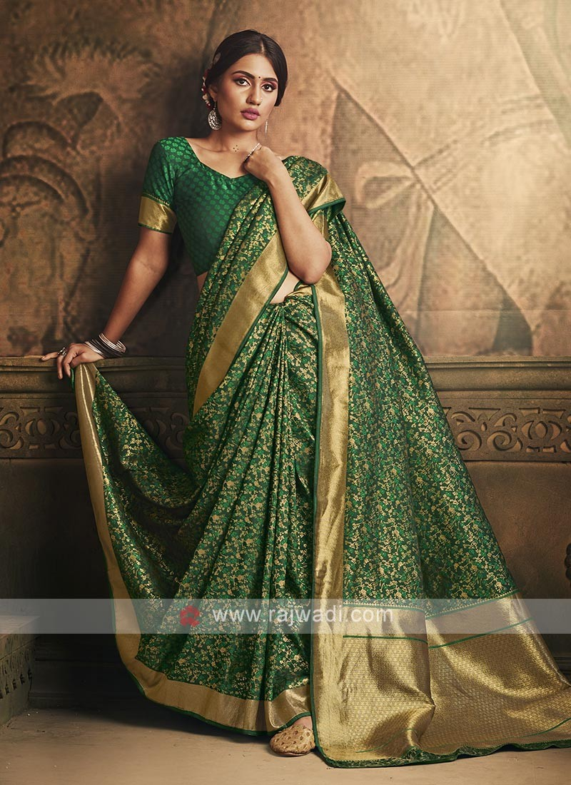 Green Color Banarasi Silk Saree