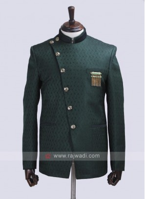 Green color Jodhpuri Suit