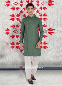 Green Color Pathani Set
