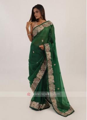 Green Color Net Saree