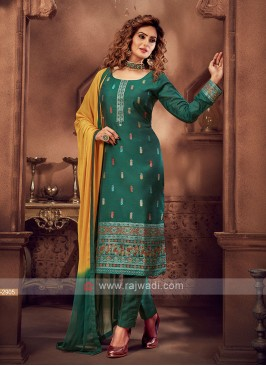 Green Color Pant Style Suit