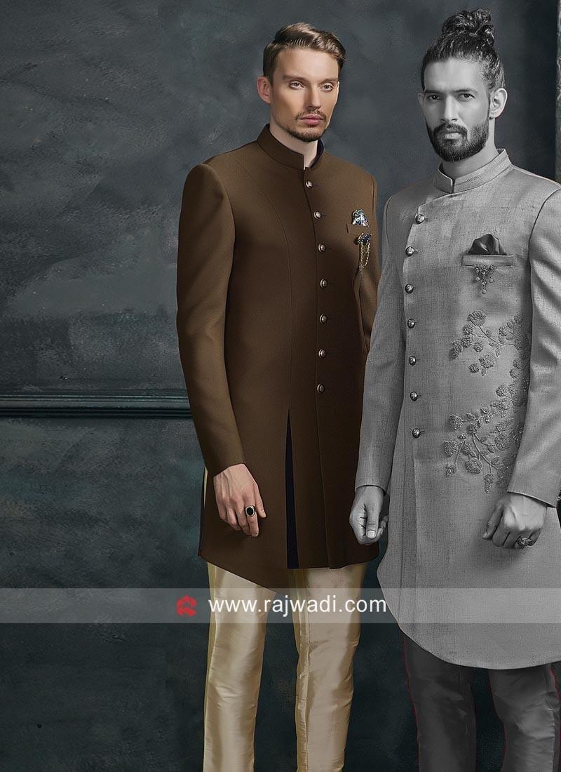Attractive Brown Color Indo Western