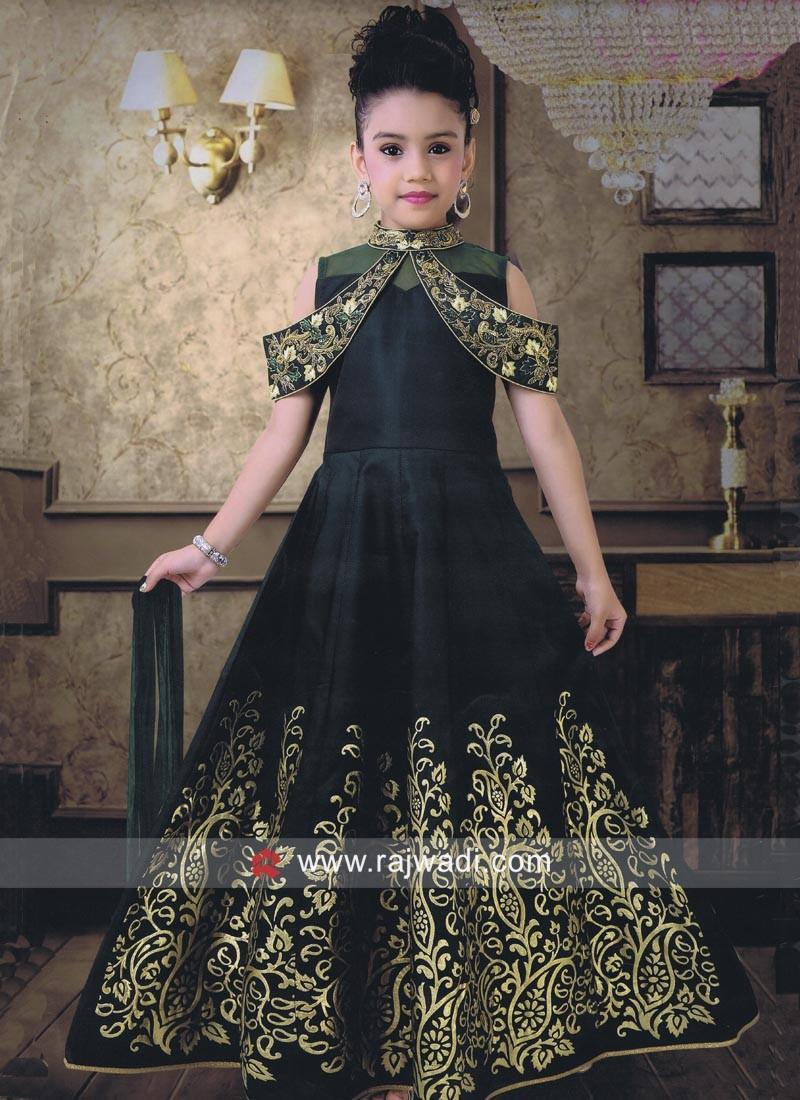 Green Girls Wedding Gown