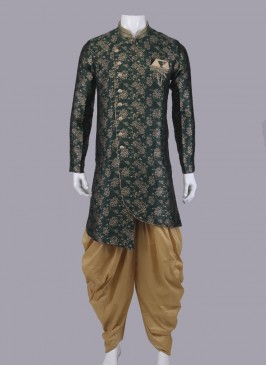 Green & Golden Indo-Western For Men