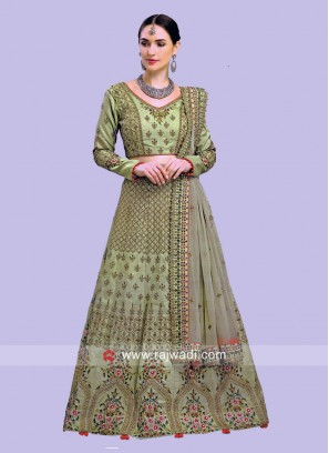 Green Heavy Lehenga Choli