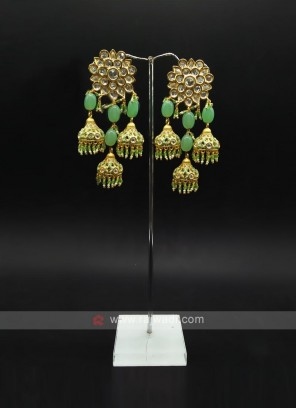 Green Jumka Earring