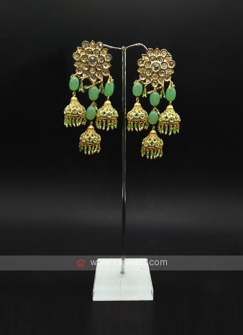 Green Jumka Earring