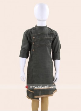 Green Linen Fabric Kurta
