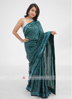 Green Party Wear Saree