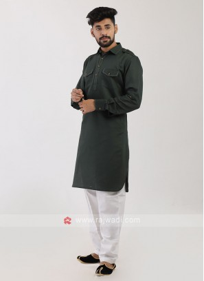 Green Pathani Suit