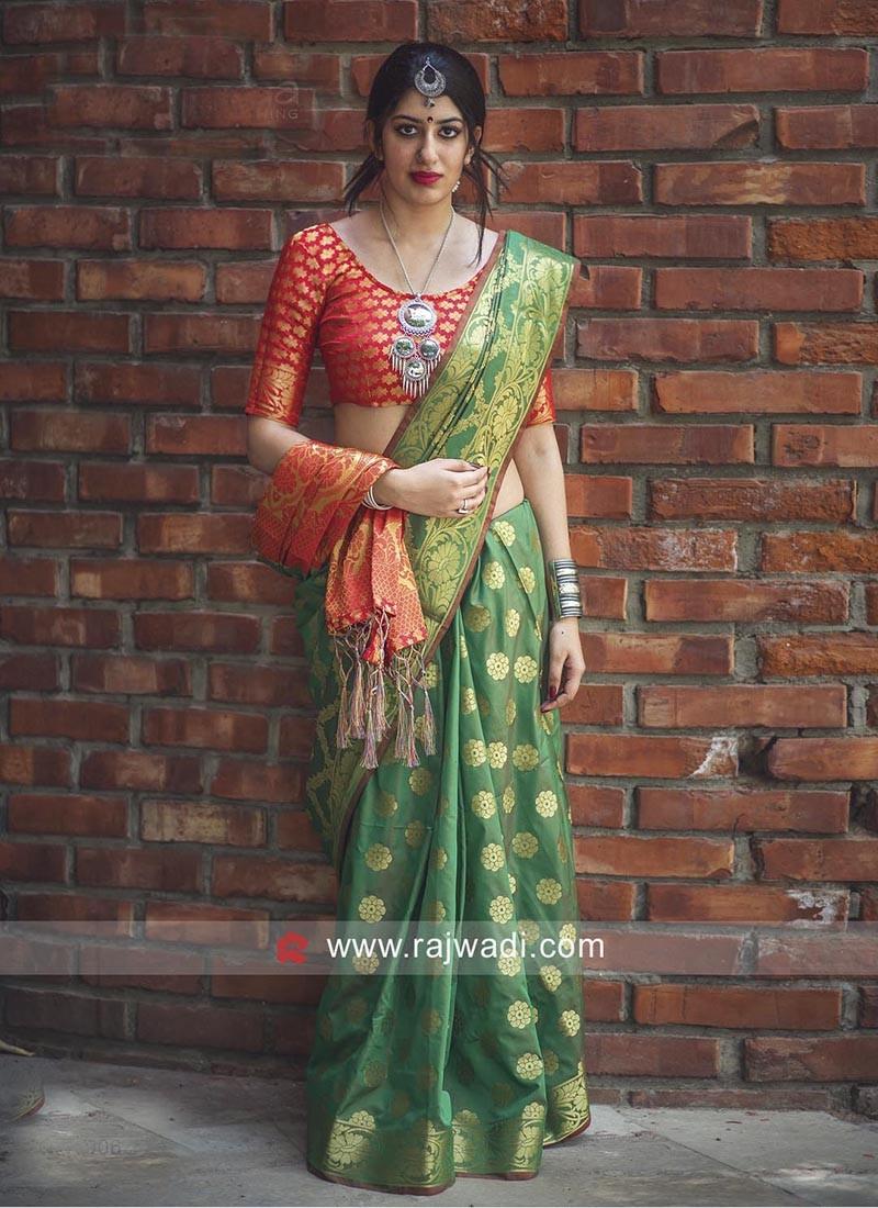 Green Patola Silk Saree
