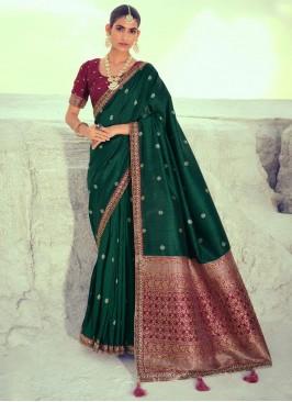 Green Reception Traditional Designer Saree