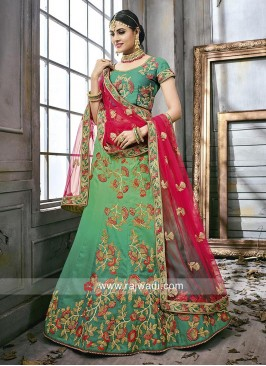 Green Shaded Wedding Lehenga Choli