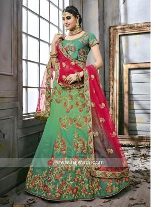 Green Shaded Wedding Lehenga Choli
