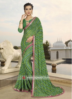 Green Traditional Saree with Blouse