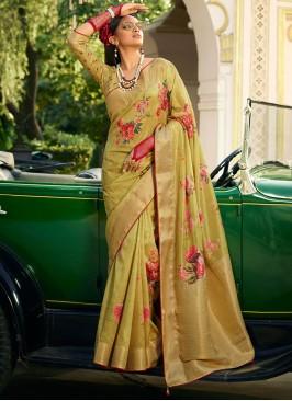 Green Weaving Festival Classic Designer Saree