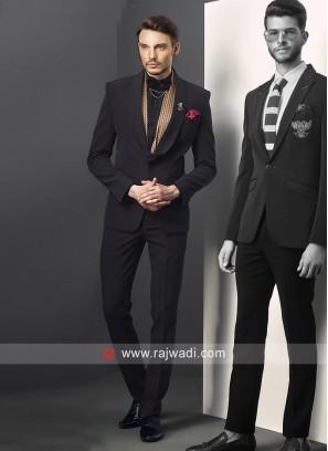 Attractive Black Party Wear Suit