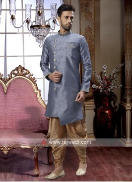 Grey And Golden Patiala Suit