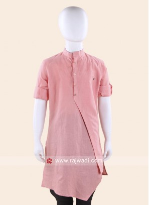 Peach Color Boys Kurta