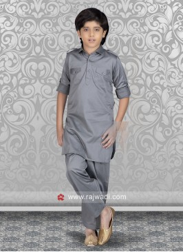 Grey Boys Pathani Suit