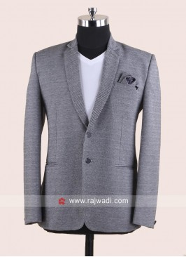 Grey Color Blazer For Party