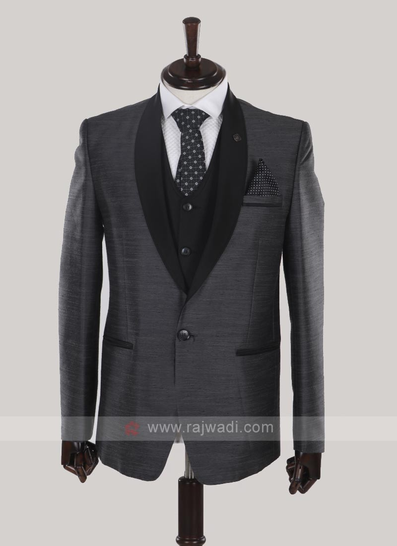 Grey color imported fabric suit