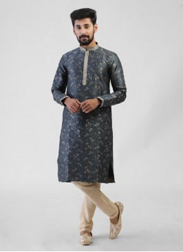 Grey Color Kurta Pajama For Wedding