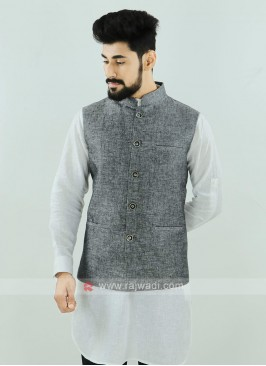 Grey Color Nehru Jacket