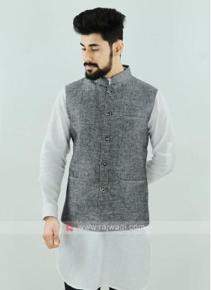 Grey Color Nehru Jacket