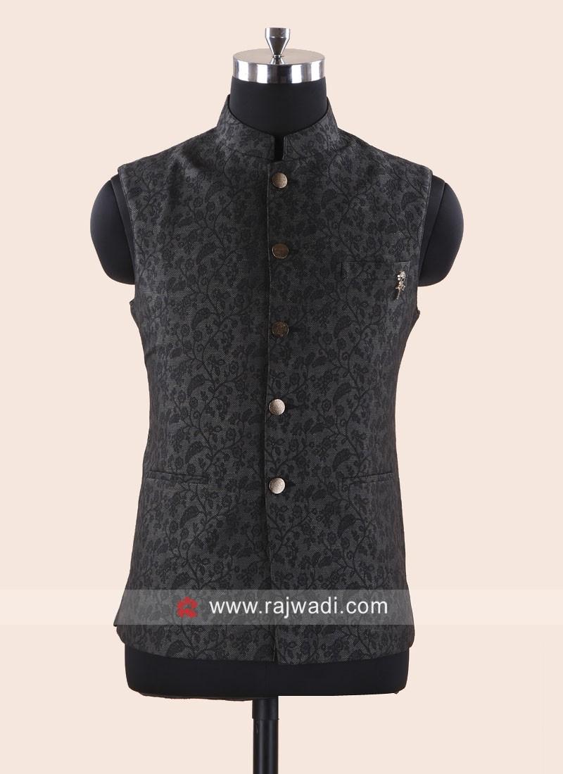 Grey Color Silk Modi Koti