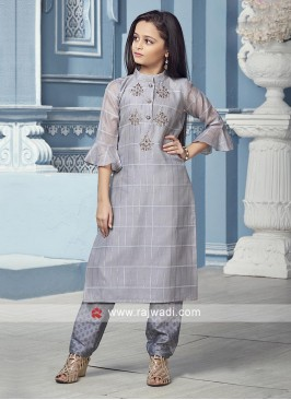 Grey color Suit with trouser
