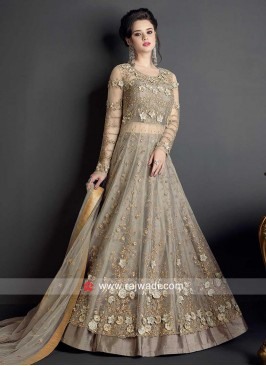 Grey Heavy Embroidered Salwar Kameez