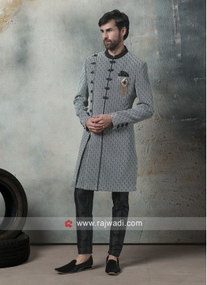 Grey Imported Fabric Indo Western