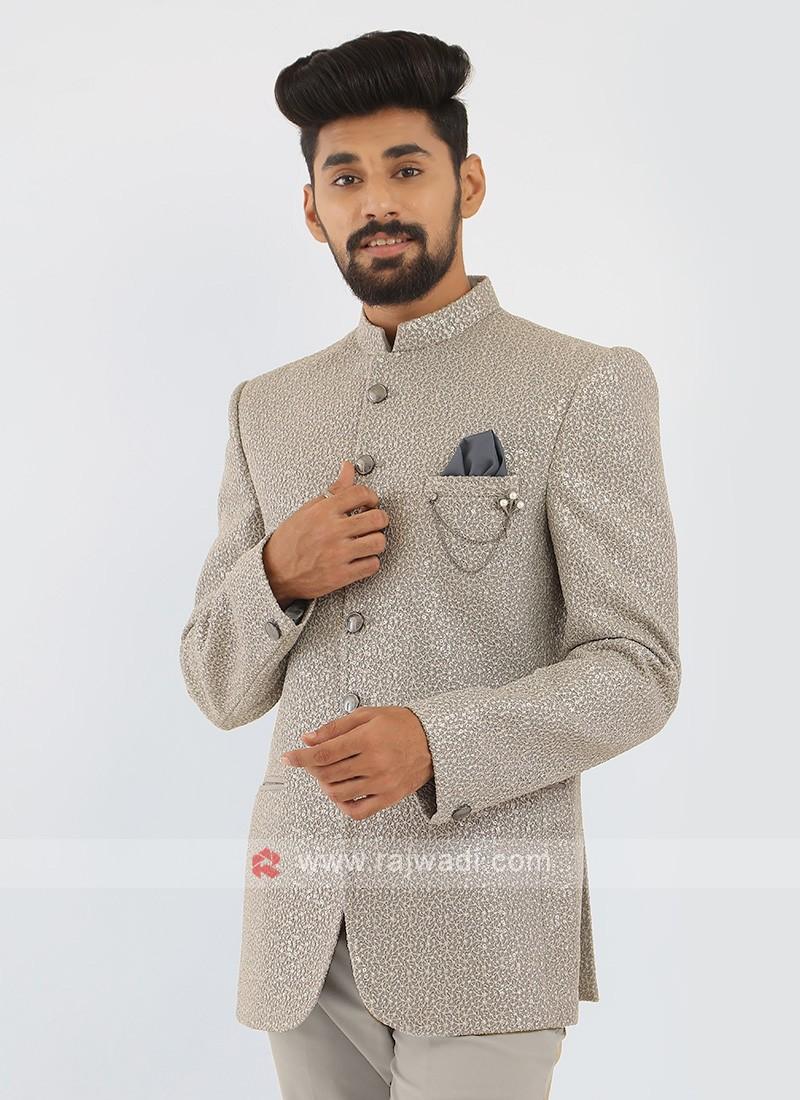 Grey Jodhpuri Suit