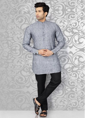 Grey Mens Kurta Pajama