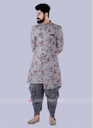 Grey Stylish Indo Western For Men