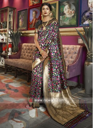 Black Zari Woven Saree