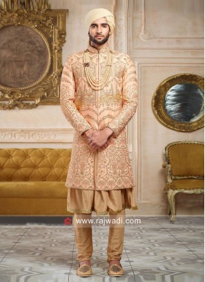 Groom Anarkali Style Sherwani