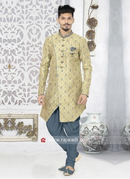 Dark Beige Color Indo Western
