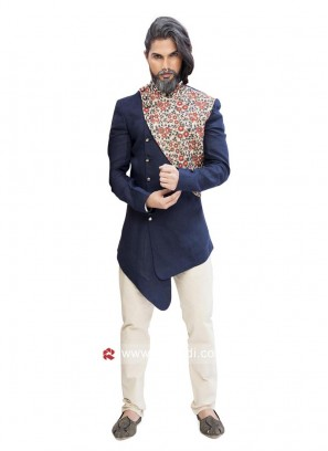 Designer Navy Color Indo Western